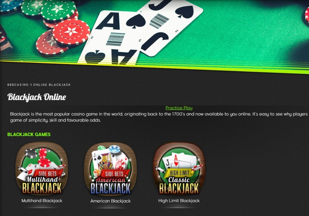 Playing online blackjack at 888casino is an excellent experience.