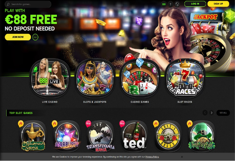 Games selection at 888casino include the top-industry games.