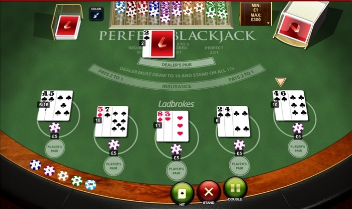 Rules of Perfect Pairs Blackjack explained.