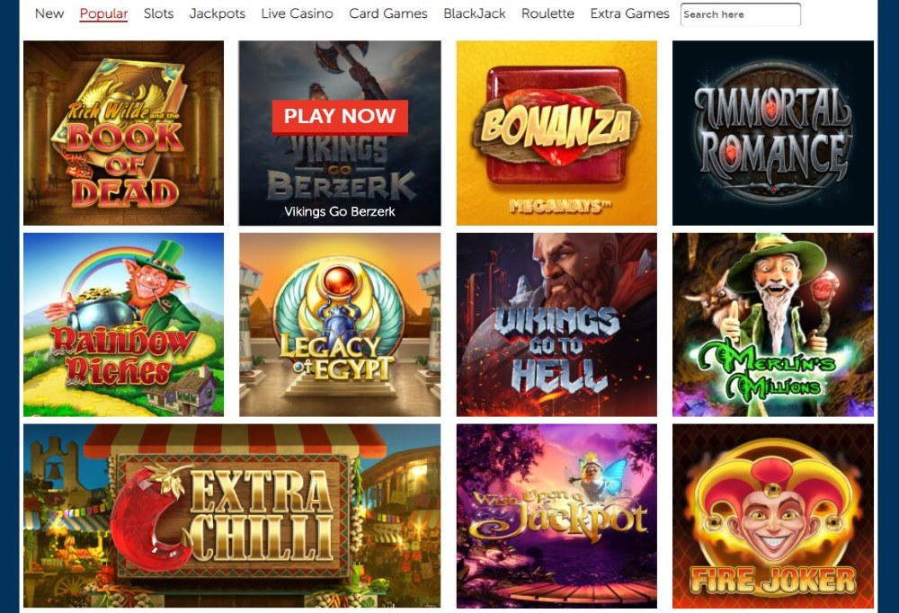 Red Kings casino offers a wide variety of casino games