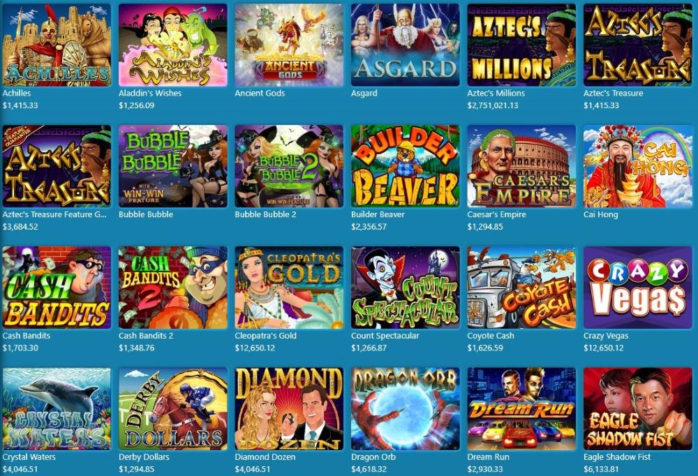 Sloto Cash Game Selection offers about 200 titles, mostly slots.